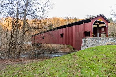Autumn at Colemanville Covered Bridge