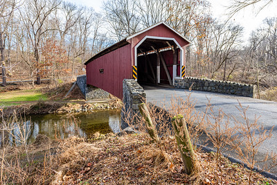 Kurtz Mill Covered Bridge Crossing Mill Creek