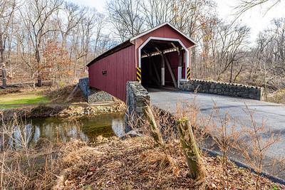 Kurtz Mill Covered Bridge Crossing Mill Creek