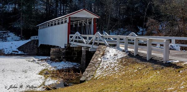 Jackson's Mill Covered Bridge in winter. 2