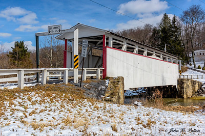 Ryot Covered Bridge in winter