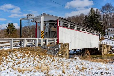Ryot Covered Bridge in winter. 1