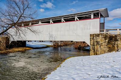 Ryot Covered Bridge in winter. 2