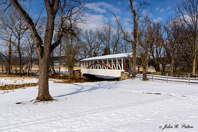 Dr. Knisley Covered Bridge in winter.