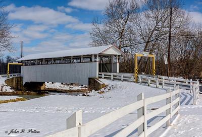 Snooks Covered Bridge in winter