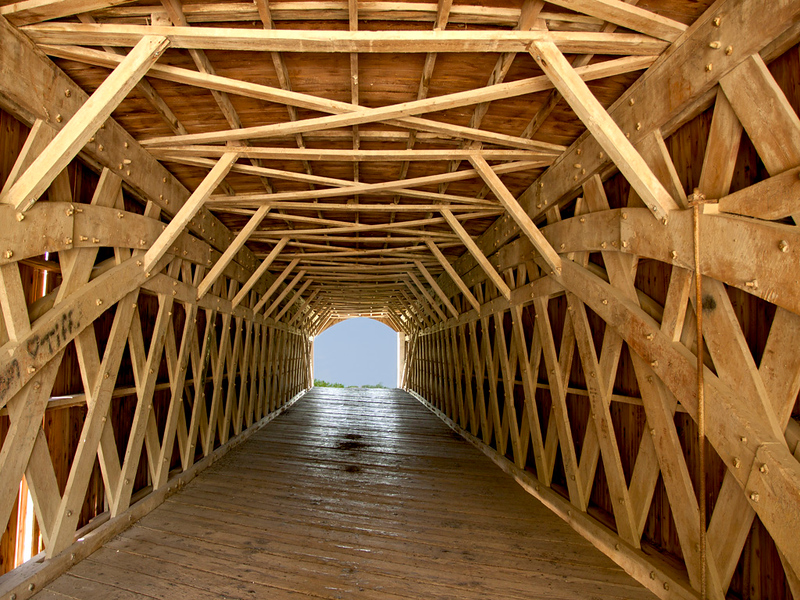 Holliwell Covered Bridge Interior.