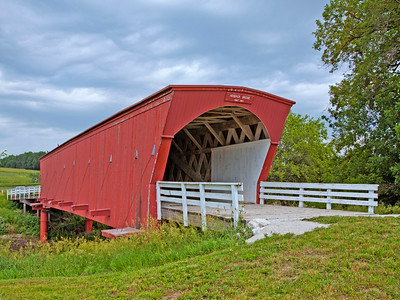 1884 Hogback Covered Bridge, In Madison County, IA  97 ft long,  Renovated in 1992