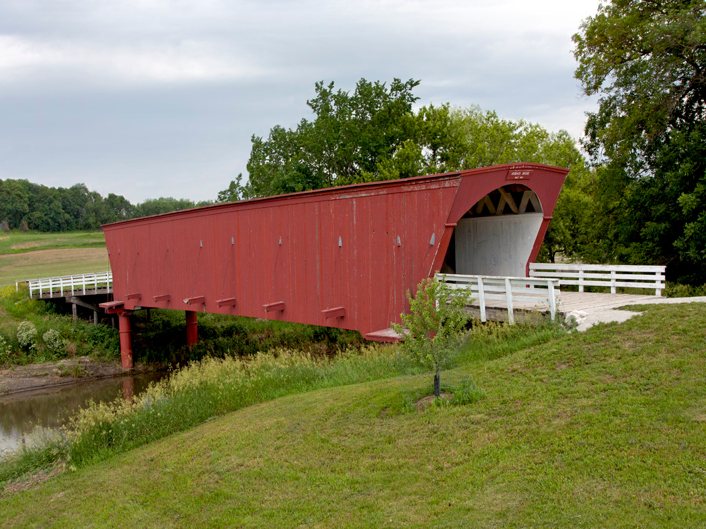 Hogback Covered Bridge,  Located in Madison County, IA.   97 feet long