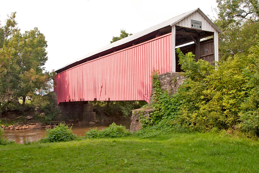 Zook's Mill Covered Bridge near Akron, PA. Burr Arch design. 89' long and 15' wide Built in 1849.