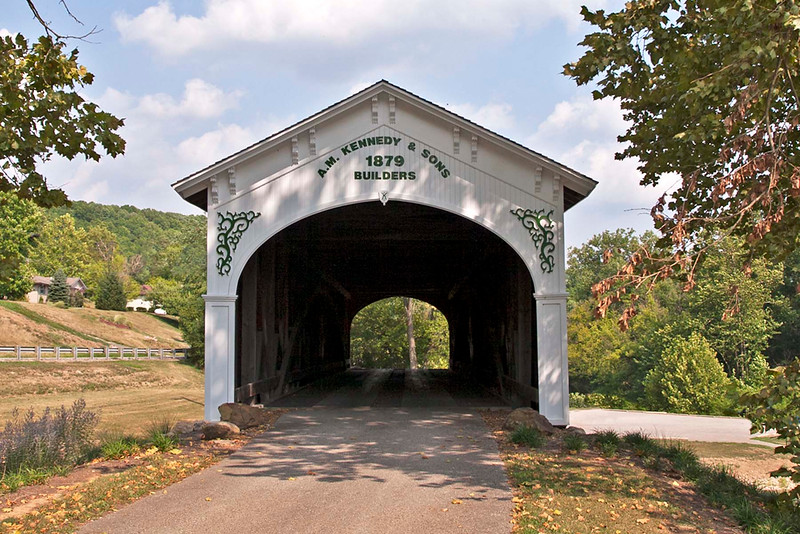 A. M. Kennedy was the builder of the Guilford Covered Bridge. 1879