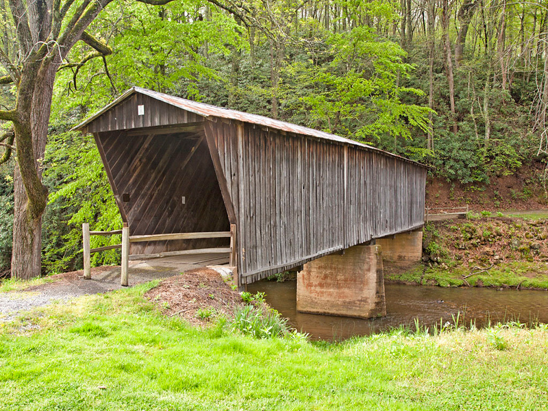 Bob White Covered Bridge near Route 8 South of  Woolwine,  Virginia