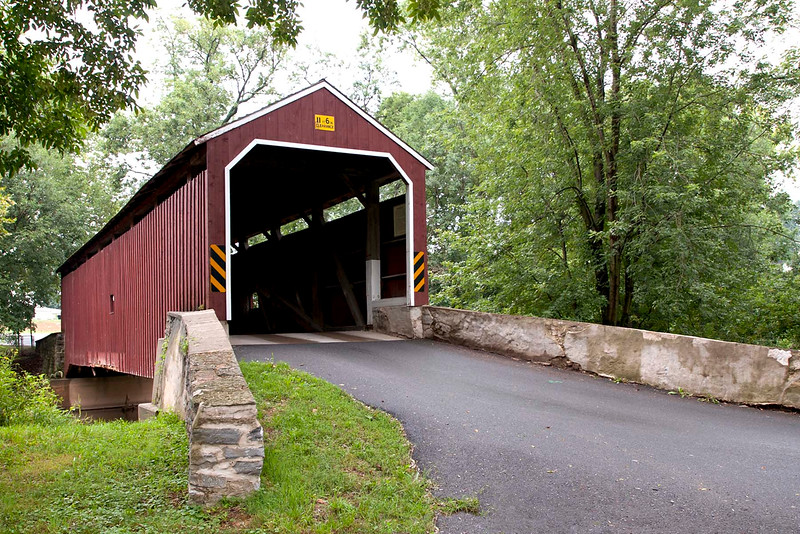 Built in 1881 for $1,167.  Length is 68'  It is the second shortest covered bridge in Lancaster County.