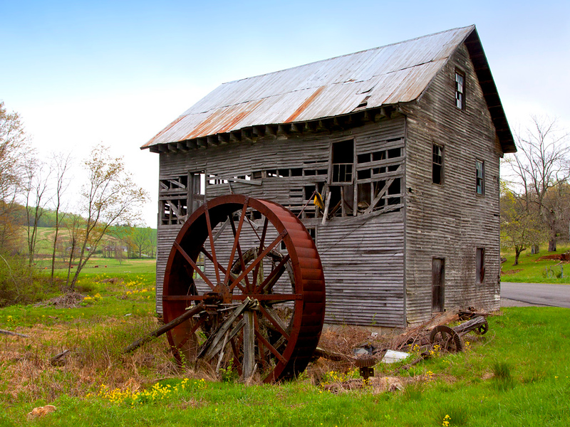 Old Grist Mill in Floyd County, VI 1024