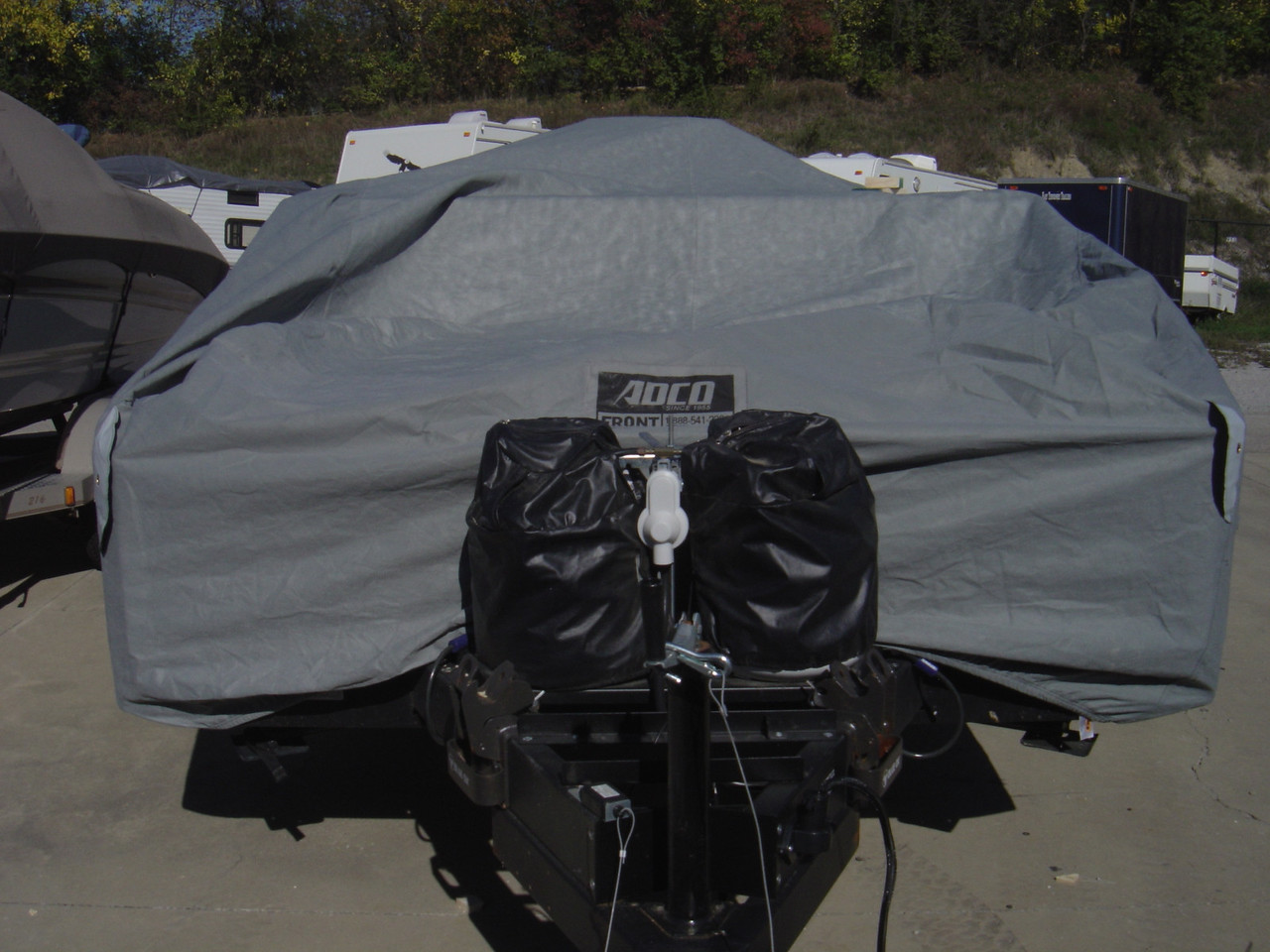 ADCO cover from the front of PUP.  This cover is breathable and will allow water to evaporate from inside the PUP.