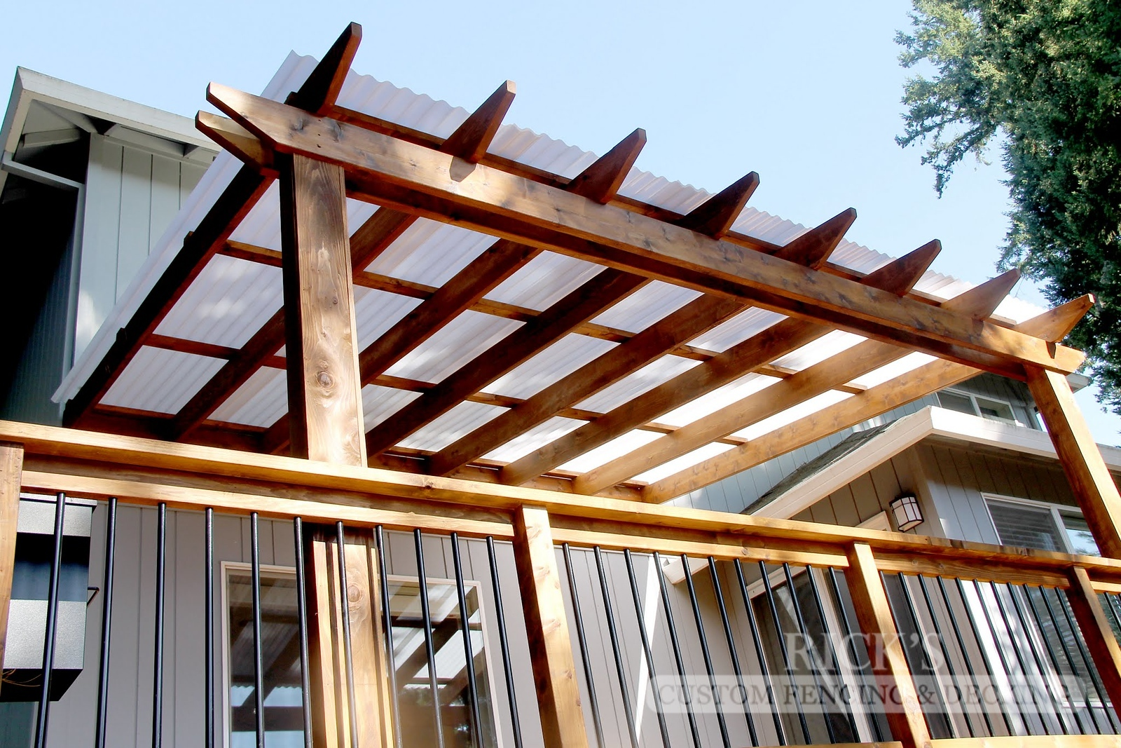 5057 - Wood-Framed Patio Cover with Acrylite Paneling