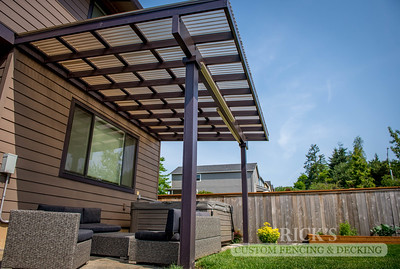 5010 - Wood-Framed Patio Cover with Acrylite Paneling