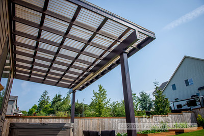 Wood-Framed Patio Cover with Acrylite Paneling