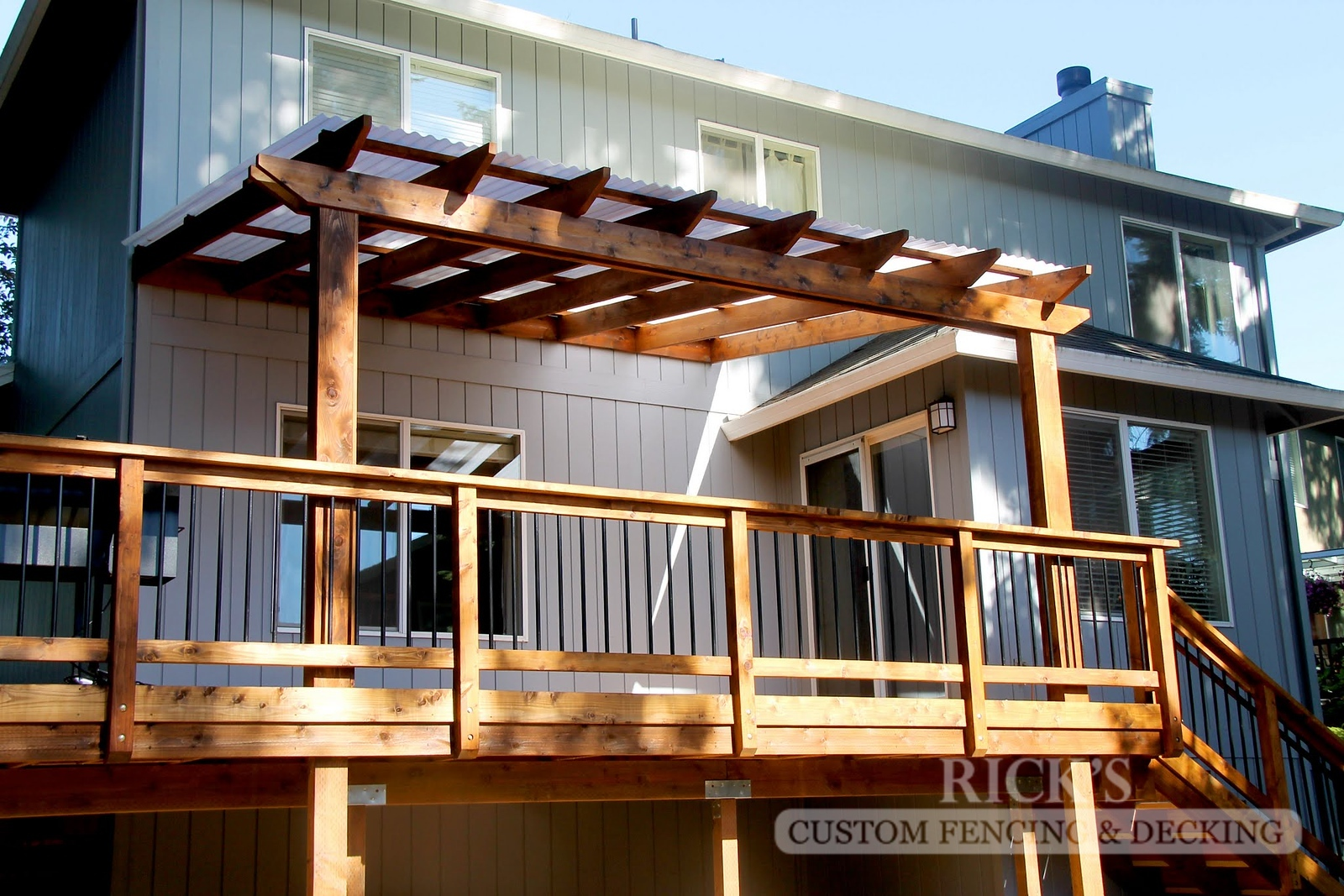 5056 - Wood-Framed Patio Cover with Acrylite Paneling