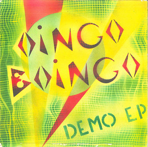 Hand painted cover, #12 of 130, of Oingo Boingo Demo EP.  produced, recorded, mixed and painted.