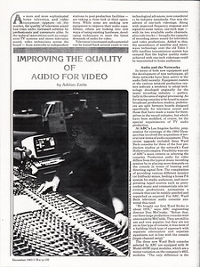 Recording  Engineer/Producer magazine  1983 interior photo