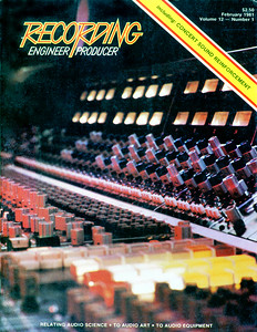 Recording  Engineer/Producer magazine  1981  cover/interior photo
