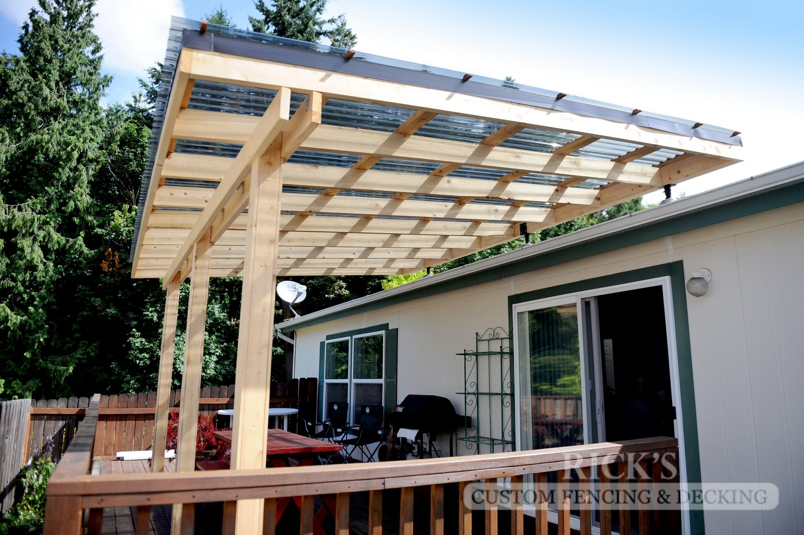 5133 - Wood-Framed Patio Cover with Acrylic Paneling