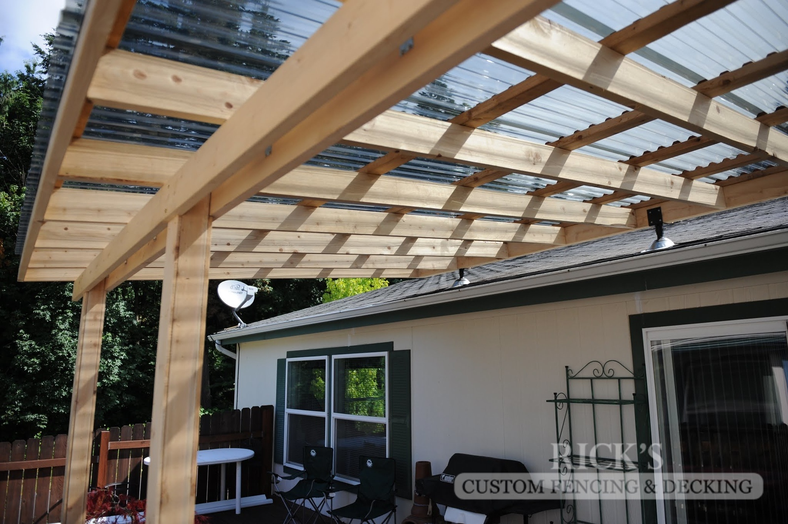 5132 - Wood-Framed Patio Cover with Acrylic Paneling