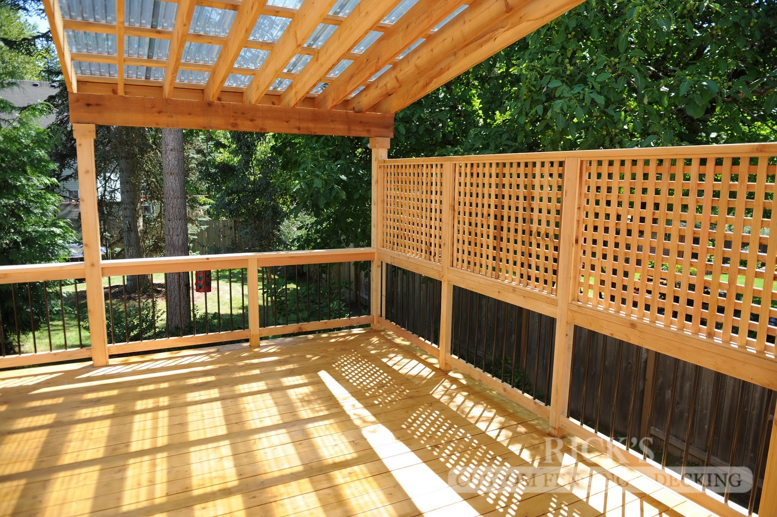 5130 - Wood-Framed Patio Cover with Acrylic Paneling