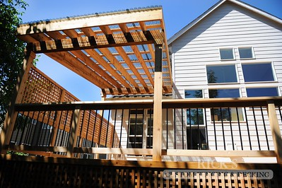 5126 - Wood-Framed Patio Cover with Acrylic Paneling