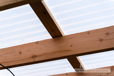 5500 - Wood-Framed Patio Cover with Acrylite Paneling
