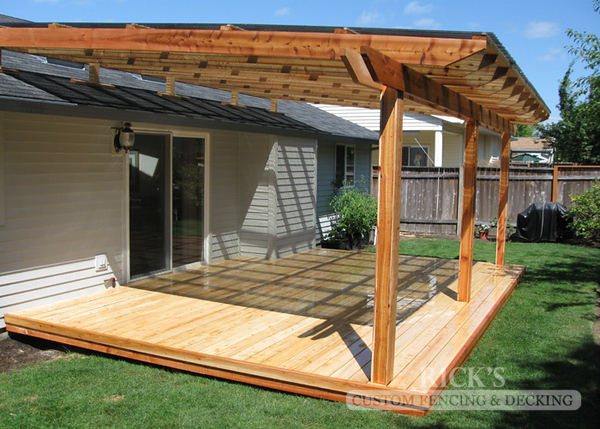 5116 - Wood-Framed Patio Cover with Acrylic Paneling