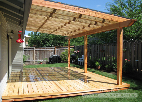 5115 - Wood-Framed Patio Cover with Acrylic Paneling
