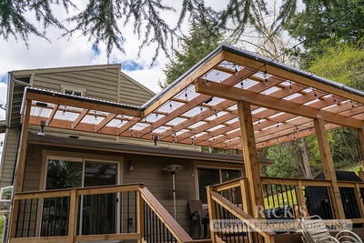 5502- Wood-Framed Patio Cover with Acrylite Paneling