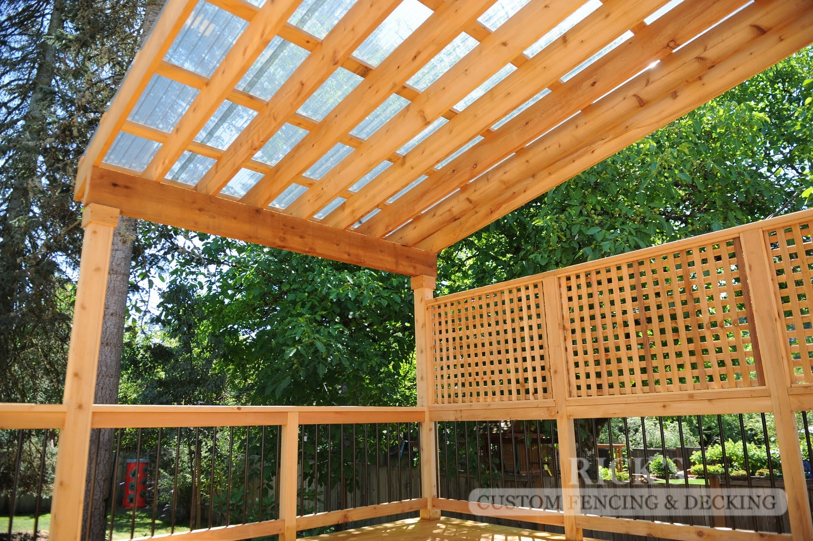 5128 - Wood-Framed Patio Cover with Acrylic Paneling