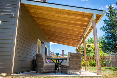 Wood-Framed Patio Cover