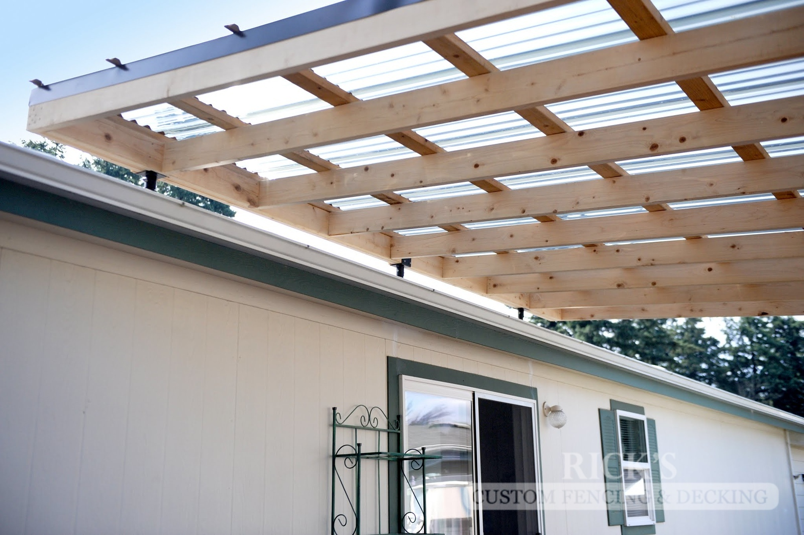 5131 - Wood-Framed Patio Cover with Acrylic Paneling