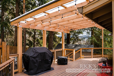 5497 - Wood-Framed Patio Cover with Acrylite Paneling