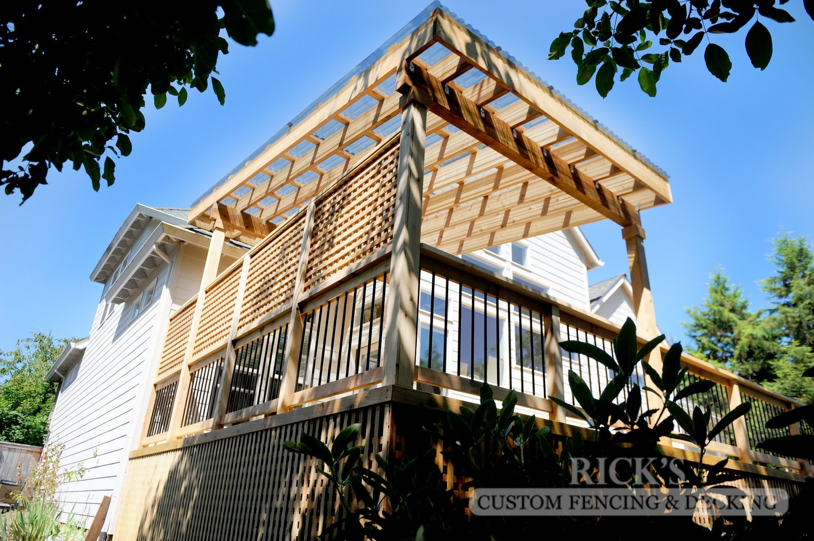5127 - Wood-Framed Patio Cover with Acrylic Paneling