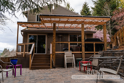 5498 - Wood-Framed Patio Cover with Acrylite Paneling