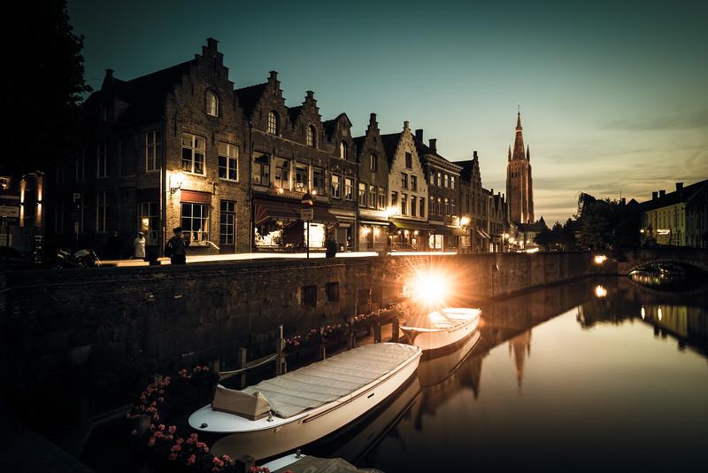 before sunset   in Bruges