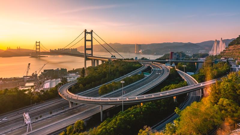 Sunset @ Tsing Ma Bridge | Hong Kong