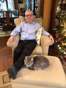 Christmas cat & friend