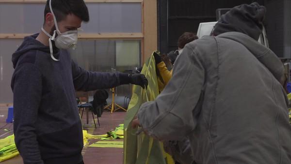 Pancartas de Greenpeace: protegieron el medio ambiente y ahora protegen nuestra salud