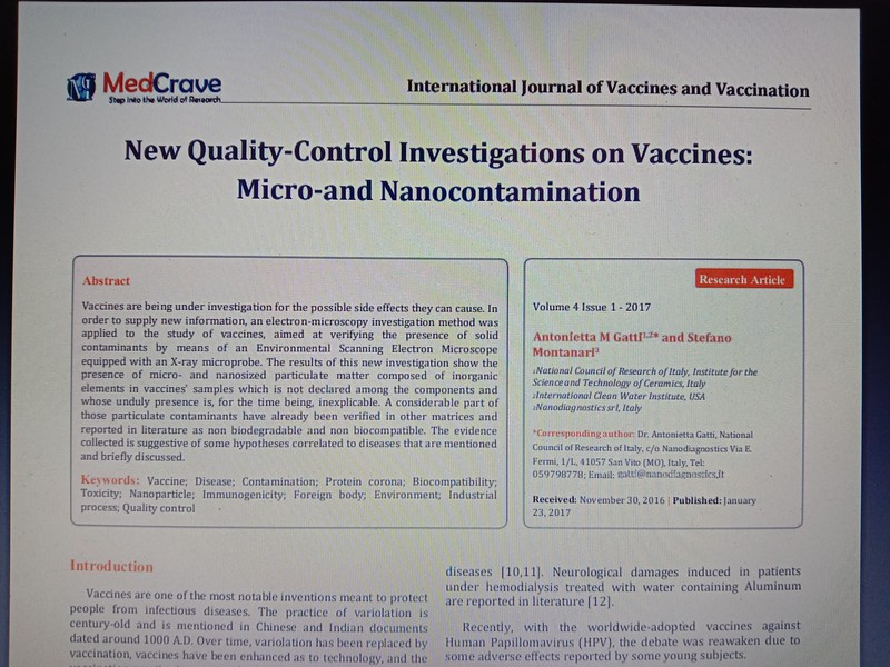 Vaccines are being under investigation for the possible side effects they can cause. READ THE FULL REPORT HERE: https://klinghardtinstitute.com/wp-content/uploads/2018/02/Vaccination-contamination.pdf