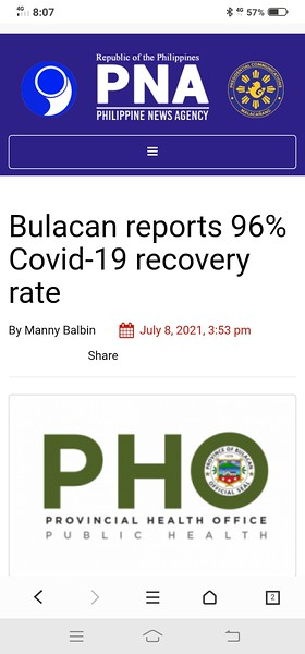 Look at this report, THEY ARE MAKING IT A BIG DEAL OUT OF A 96% COVID RECOVERY RATE. DESPITE THE FACT COVID CASES WORLD WIDE ARE 99%++ MILD!  https://www.pna.gov.ph/articles/1146388