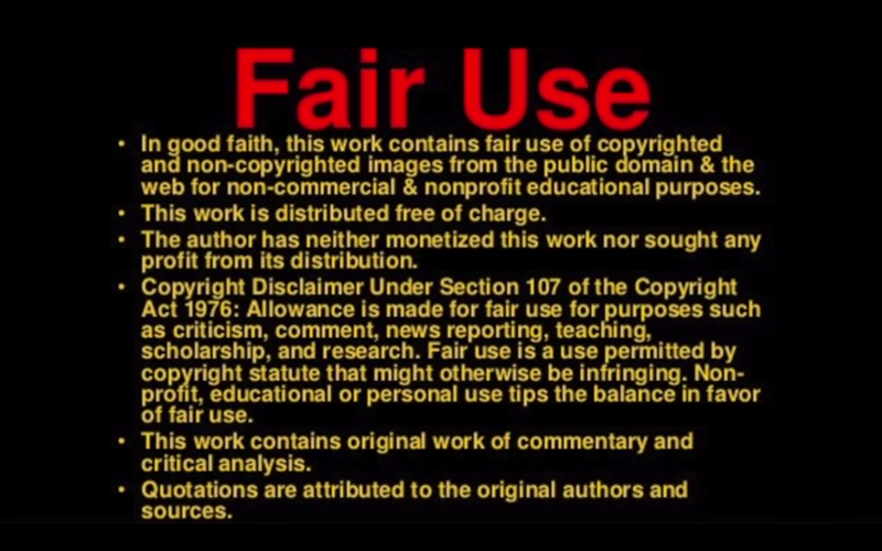 FAIR USE OF WRITTEN CONTENT & PHOTOS is used for NON-Commercial  educational purposes and the information on this webpage is distributed FREE OF CHARGE.