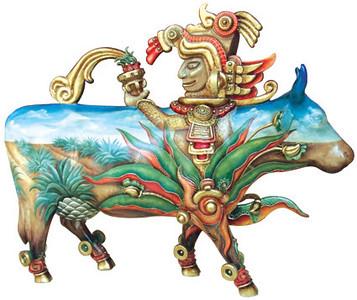 CowParade Guadalajara 64 Mayahuel - Artista Rodrigo Candelas-Sponsor Grupo Lala