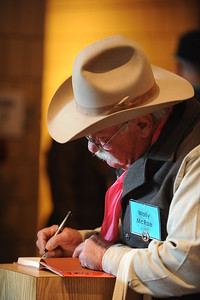 Cowboy Poet Wally McRae  Scenes from the 26th Annual National Cowboy Poetry Gathering, Elko, Nevada. January 28, 2010.