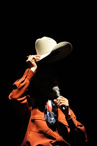 Cowboy Poet Baxter Black performs at the 26th annual National Cowboy Poetry Gathering, Elko, Nevada. January 30, 2010.
