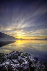 Estuary Sunrise Long Exposure, Cowichan Bay